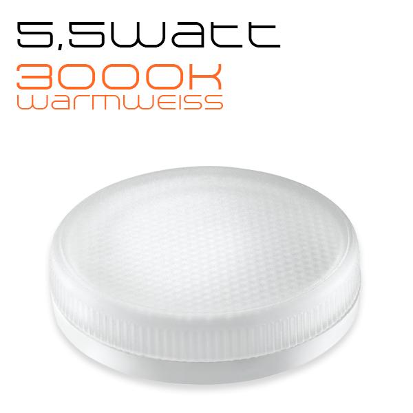 LEDANDO GX53 LED Leuchtmittel - 5,5 Watt - 400lm - warmweiß - 35W Ersatz - 3000K - 120° Abstrahlwinkel - Energieeffizienzklasse A+ [ LED Lampe 5,5W  ]