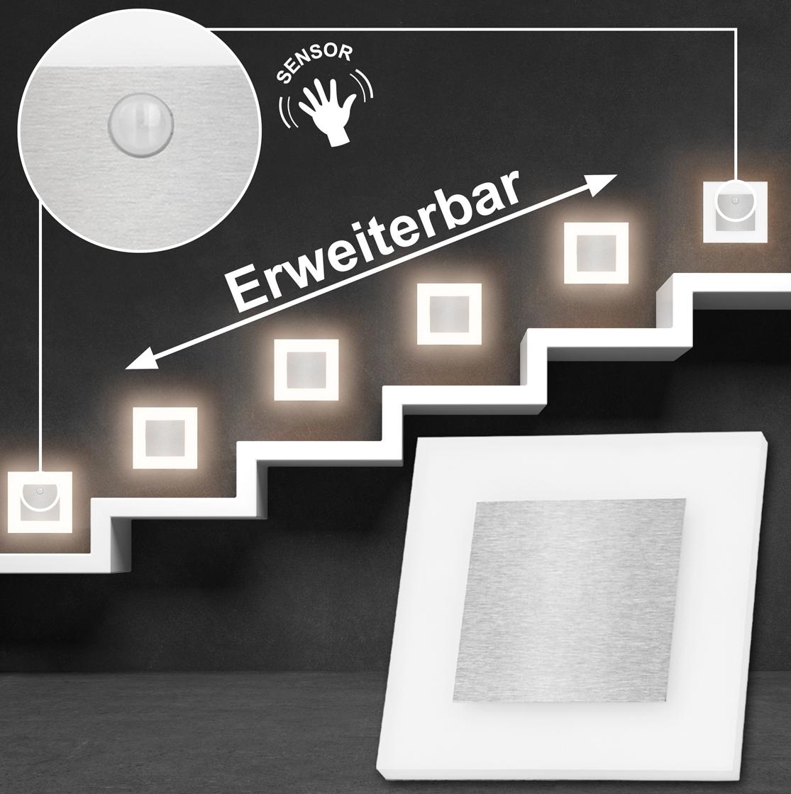 set led treppenbeleuchtung warmwei 3000k inklusive zwei einheiten mit bewegungsmelder und 15w. Black Bedroom Furniture Sets. Home Design Ideas