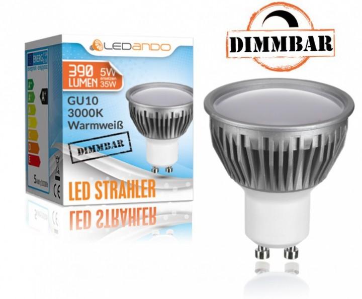 ledando gu10 5w dimmbar led strahler alu a led lampe warmwei spot spotlight warm weiss led. Black Bedroom Furniture Sets. Home Design Ideas