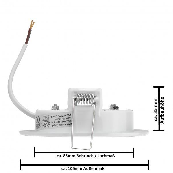 Relativ 10er LED Einbauleuchten Set extra flach in Weiß mit LED GX53 TF01