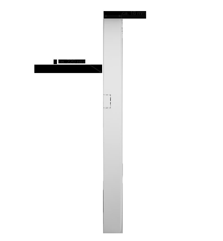 10er Set Led Aufbaupanel 18 Watt Ultra Flach Dimmbar Nur 1 8 Cm Rund Led Panel Warmweiß