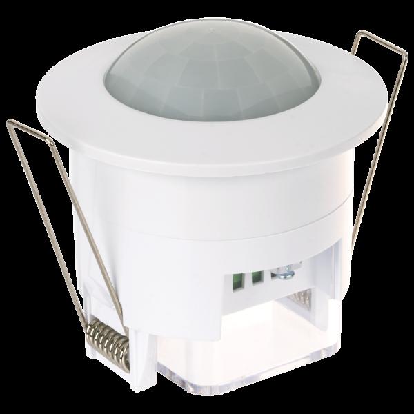 Infrarot Bewegungsmelder für den Deckeneinbau mit Dämmerungseinstellung und Regelung der Einschaltdauer - Lochmaß min. 64mm