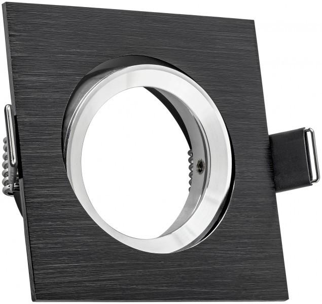 Alu einbaustrahler bicolor eckig schwenkbar for Deckenlampe eckig