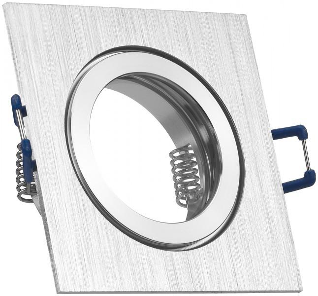 IP44 Aluminium Einbaustrahler   Bicolor (chrom / Gebürstet)   Eckig    Badezimmer /