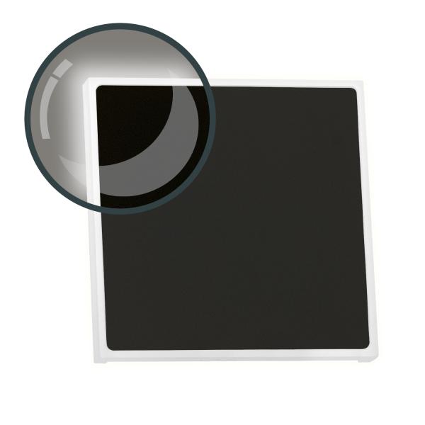 LED Treppenbeleuchtung EDGE aus Aluminium in eckig für Schalterdoseneinbau 68mm - Kaltweiß 6500K - Farbe anthrazit [Stufenbeleuchtung - Wandbeleuchtung - indirekt]